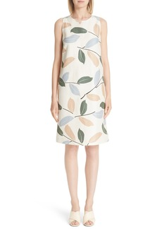 Lafayette 148 New York Hana Linen & Cotton Shift Dress