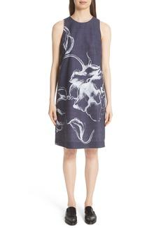 Lafayette 148 New York Hana Print Chambray Dress