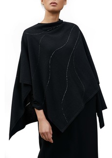 Lafayette 148 New York Hand Beaded & Embroidered Cashmere Wrap