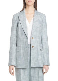 Lafayette 148 New York Harlow Cotton, Wool & Silk Blazer
