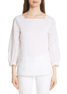 Lafayette 148 New York Harper Gemma Cloth Blouse