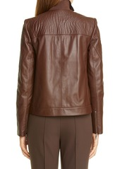 Lafayette 148 New York Harrigan Quilted Leather Jacket