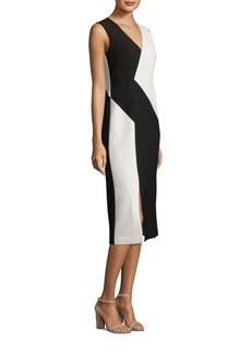 Lafayette 148 New York Havana Colorblock Crepe Dress