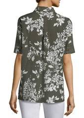 Lafayette 148 Hazel Exposed Blooms Blouse