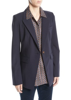 Lafayette 148 New York Heather Emerging Wool-Stretch Jacket