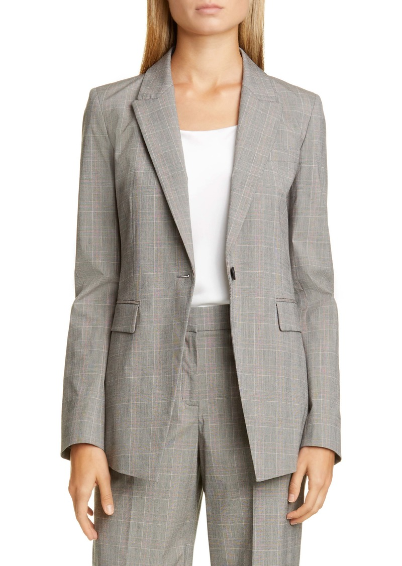 Lafayette 148 New York Heather Glen Plaid Jacket
