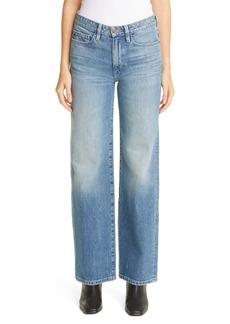 Lafayette 148 New York High Waist Wide Leg Jeans (Faded Skyline)