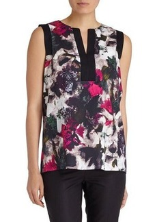 Lafayette 148 New York Hillary Floral-Print Sleeveless Blouse