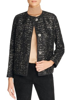 Lafayette 148 New York Holland Metallic Tweed Jacket