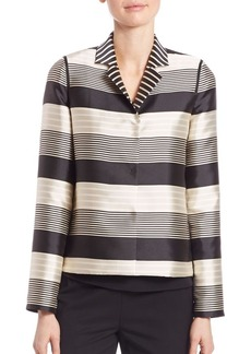 Lafayette 148 New York Hollis Striped Jacquard Jacket
