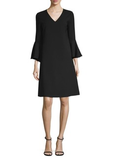 Lafayette 148 Holly Bell-Sleeve Shift Dress