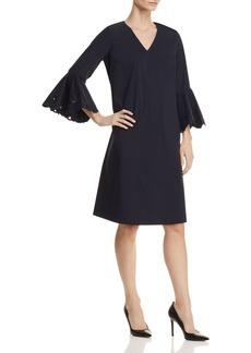 Lafayette 148 New York Holly Embroidered Bell Sleeve Dress