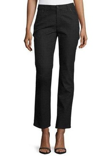 Lafayette 148 New York Houndstooth Jacquard Curvy Slim Jeans