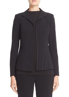 Lafayette 148 New York 'Iconic Collection - Kat' Sleek Tech Cloth Jacket