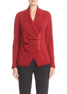 Lafayette 148 New York 'Iconic Collection' Cashmere Gathered Asymmetrical Sweater