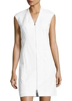 Lafayette 148 New York Imani Sleeveless Zip-Front Sheath Dress