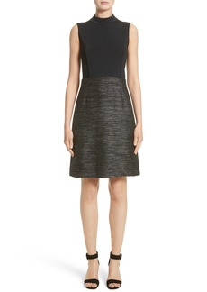 Lafayette 148 New York Indra Knit Combo Dress (Nordstrom Exclusive)
