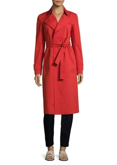 Lafayette 148 Inna Belted Napoleon Trench Coat