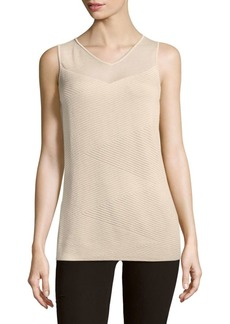 Lafayette 148 Interlaced V-Neck Top