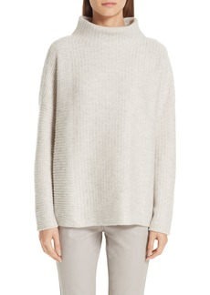 Lafayette 148 New York Intersecting Stitch Cashmere & Silk Sweater