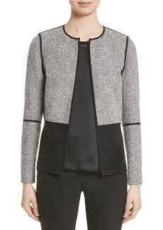 Lafayette 148 New York Isaiah Combo Jacket (Nordstrom Exclusive)