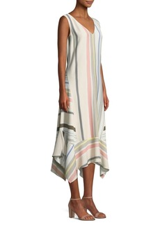 Lafayette 148 Isla Striped Maxi Dress