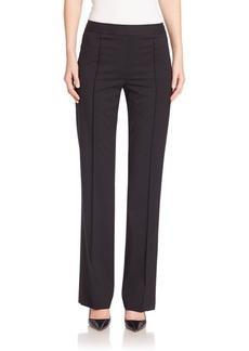 Lafayette 148 New York Italian Stretch-Wool Menswear Pintuck Pants
