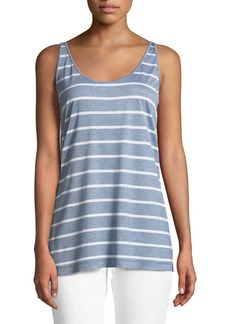 Lafayette 148 New York Ivy Striped Featherweight-Jersey Tank