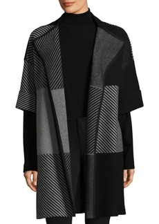 Lafayette 148 New York Jacquard Cardigan Coat