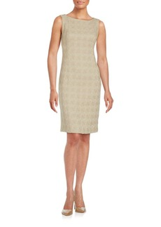 Lafayette 148 New York Jacquard Knit Wool Sheath Dress