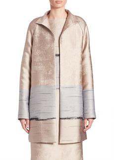 Jacquard Long Aalyah Coat