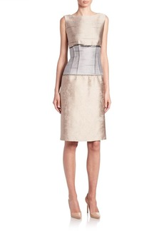 Lafayette 148 New York Jacquard Sleeveless Verona Dress