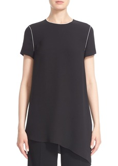 Lafayette 148 New York 'Jaden' Piped Asymmetrical Silk Tunic