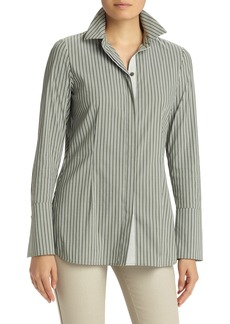 Lafayette 148 New York Jake Stretch Poplin Blouse