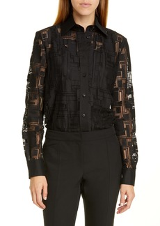 Lafayette 148 New York James Lace Blouse