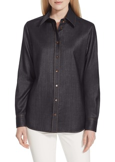 Lafayette 148 New York James Mercantile Cloth Blouse