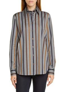 Lafayette 148 New York James Stripe Shirt