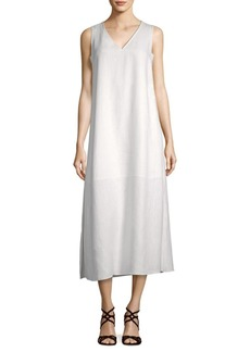 Lafayette 148 Janae Linen Midi Shift Dress