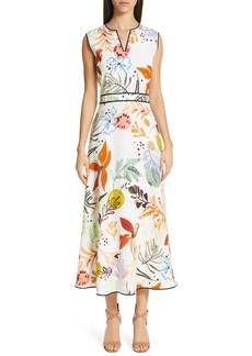 Lafayette 148 New York Janelle Floral Print Midi Dress