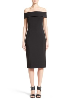 Lafayette 148 New York Jersey Off the Shoulder Dress