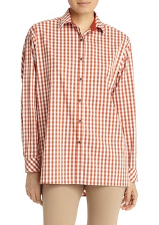 Lafayette 148 New York Jessie Hampton Check Blouse