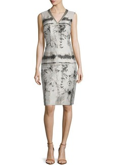 Lafayette 148 New York Jillesa Floral-Printed Sleeveless Dress