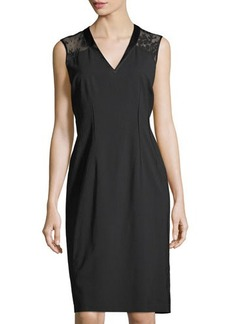 Lafayette 148 New York Jillesa Lace-Yoke Sheath Dress