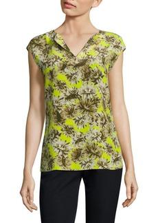 Lafayette 148 New York Joanie Floral-Print Silk Blouse