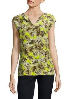 Joanie Floral-Print Silk Blouse