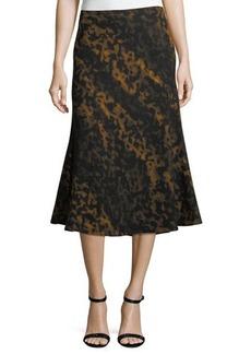 Lafayette 148 New York Johanna A-Line Wool Skirt