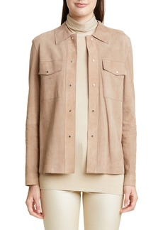 Lafayette 148 New York John Suede Shirt Jacket