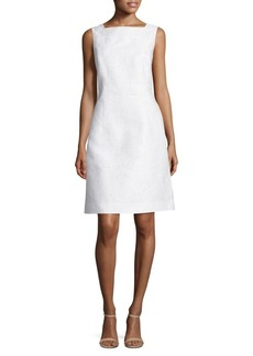 Lafayette 148 Jojo Cotton and Silk Jacquard Dress
