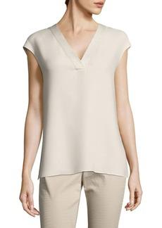 Lafayette 148 New York Jolet Sequined Silk Blouse