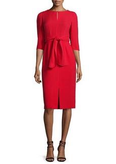 Lafayette 148 New York Jolie 3/4-Sleeve Tie-Waist Dress